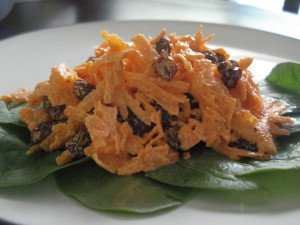 Homemade Mayo & Carrot Raisin Salad
