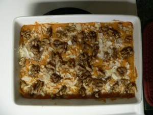 Not your mama's sweet potato casserole…