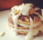 Pumpkin Pancakes with Pumpkin Butter and Vanilla Cream Sauce