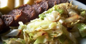 Sauteed Cabbage and Sausage
